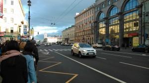На улице. Невский проспект