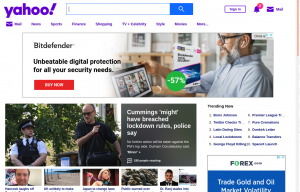 Yahoo UK without pihole