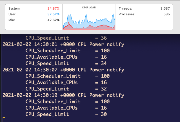 MacBook pro CPU throttle on youtube and two android emulators